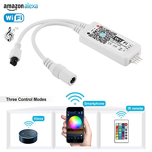 Price comparison product image Nexlux WiFi Wireless LED Smart Controller Working with Android and IOS System Mobile Phone Free App for GRB LED Light Strips 5050 3528 LEDs Comes With One 24 Keys Remote Control
