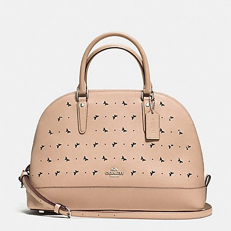 Coach Perforated Leather Bag - 4