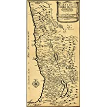 """French MAP of PALESTINE The Promised Land (Carte de la Terre Promise) by Liebaux circa 1720 - measures 48"""" high x 24"""" wide (1220mm high x 610mm wide)"""