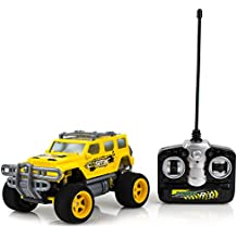 Purplecraft Yellow Sport Utility Vehicle Toy Car RC – Remote Control Jeep Pick Up for Kids – Easy to Control – High Speed Racing Jeep Toy Car for Kids – Battery Operated SUV Car With Shock Absorbers