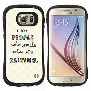 """Pulsar iFace Series Tpu silicona Carcasa Funda Case para Samsung Galaxy S6 , Gente Citar Texto motivación"""""""