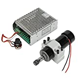 Koolertron CNC Spindle Motor 500W Air Cooled Milling Motor + MACH3 Spindle Speed Power Converter + 52mm Clamp for DIY Engraving (Air-Cooled Spindle Motor + Speed Governor)