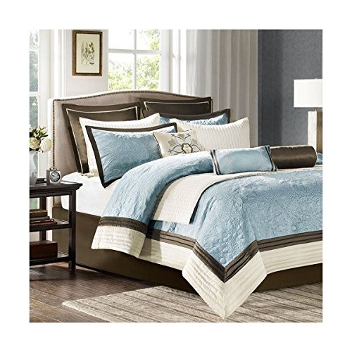 Madison Park Juliana Comforter Set, King, Blue
