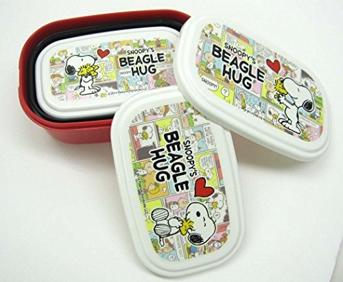 bento snoopy design nesting microwavable food storage lunch boxes set of 3pcs office supplies. Black Bedroom Furniture Sets. Home Design Ideas