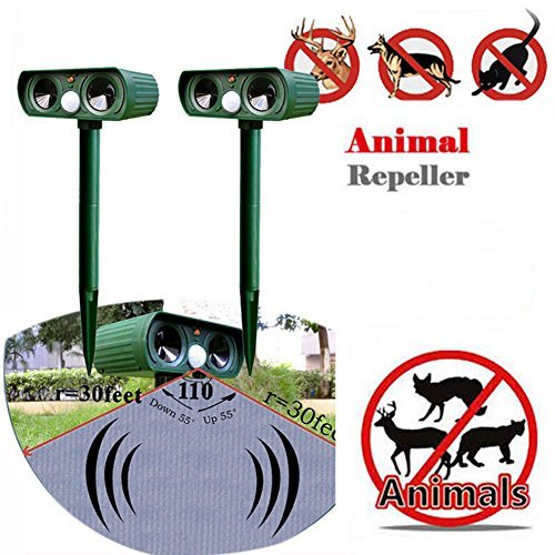 teco 1 UltraSonic Animal Repeller PIR Solar Dog Cat Pest Repellent Scarer Deterrent by teco 1