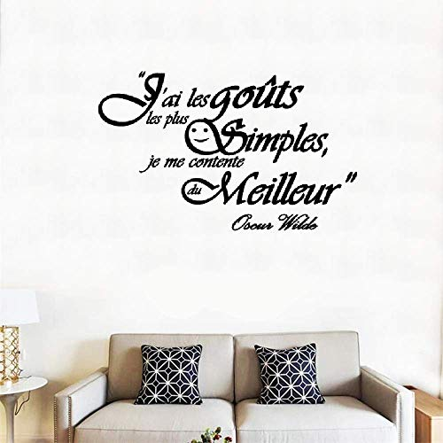 Quote Mirror Decal Quotes Vinyl Wall Decals French Quote J'Ai Les Goûts Les Plus Simples Pour La Cuisine Salle À Manger I Have The Simplest Tastes for Kitchen Dining Room