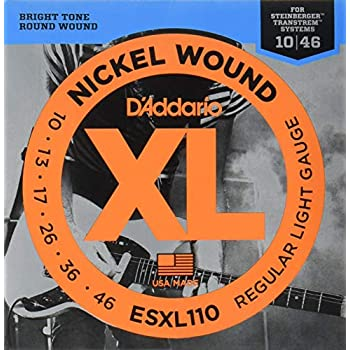 d 39 addario esxl110 nickel wound electric guitar strings regular light double ball. Black Bedroom Furniture Sets. Home Design Ideas