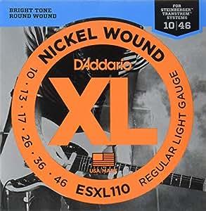 d 39 addario esxl110 nickel wound electric guitar strings regular light double ball. Black Bedroom Furniture Sets. Home Design Ideas