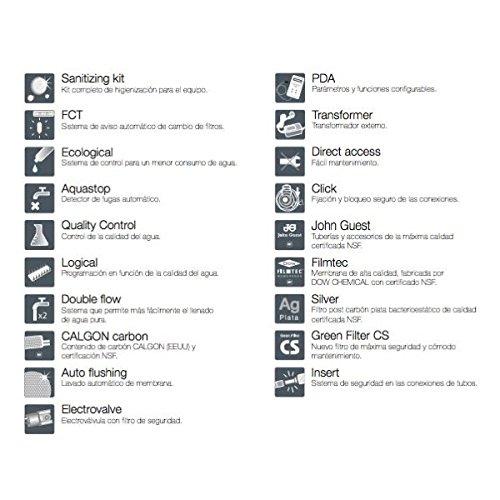 ósmosis inversa sistema de agua potable OSMO Lux con tanque de 5, 5 l | ink. metallfreien grifo y accesorios | Tank Anlage | filmtec Membrana | filtro de ...