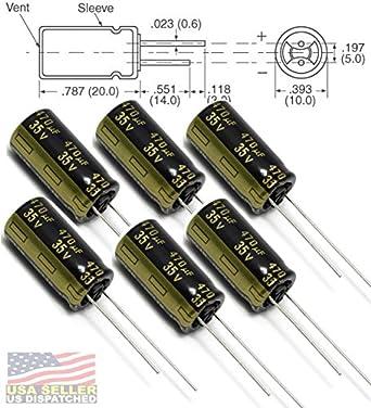 18 mm 2200 µF Condensador electrolítico 25 V con plomo Radial de ± 20/%, serie FC
