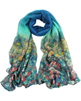 Tonsee Flower Womens Cotton Stole Scarves Long Neck Wraps Shawl Scarf
