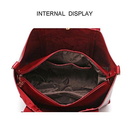 Bag PU Mode Supérieure 26 Cuir 14Cm Sac À Tout Fourre Cross Bandoulière 36 Body Sacs Red À Main Sac en Sac Poignée Femmes wpq7w
