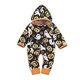 puseky bebé recién Nacido niños niñas Calabaza con Capucha Mameluco Mono Onesies Disfraz de Halloween