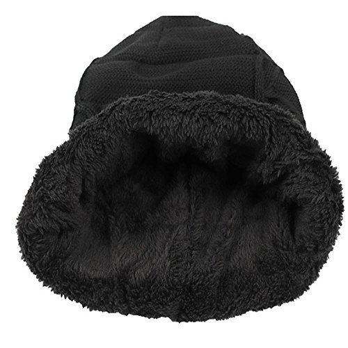Daily al Knitting libre varios Soft Hat sombreros black esquí Cap Lined Skull Gorro Mens Winter Slouchy Warm Thick negro Baggy aire colores Pz0wpIq