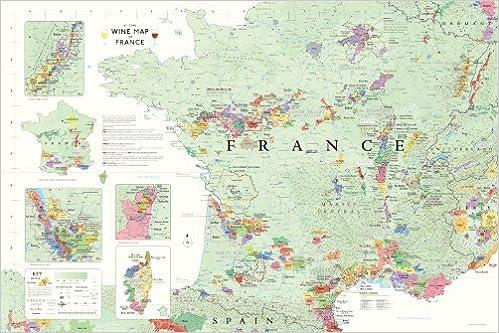 Wine Map of France Steve De Long Mark De Long 9781936880034