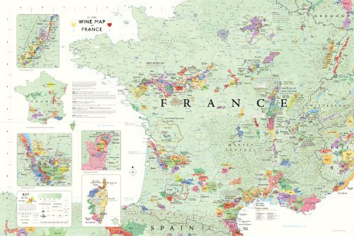 France Wine Map Region - Wine Map of France