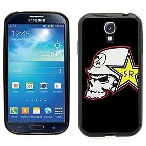 Samsung Galaxy S4 SIIII Black Rubber Silicone Case - Rock Star Metal Mulisha Skull FMX