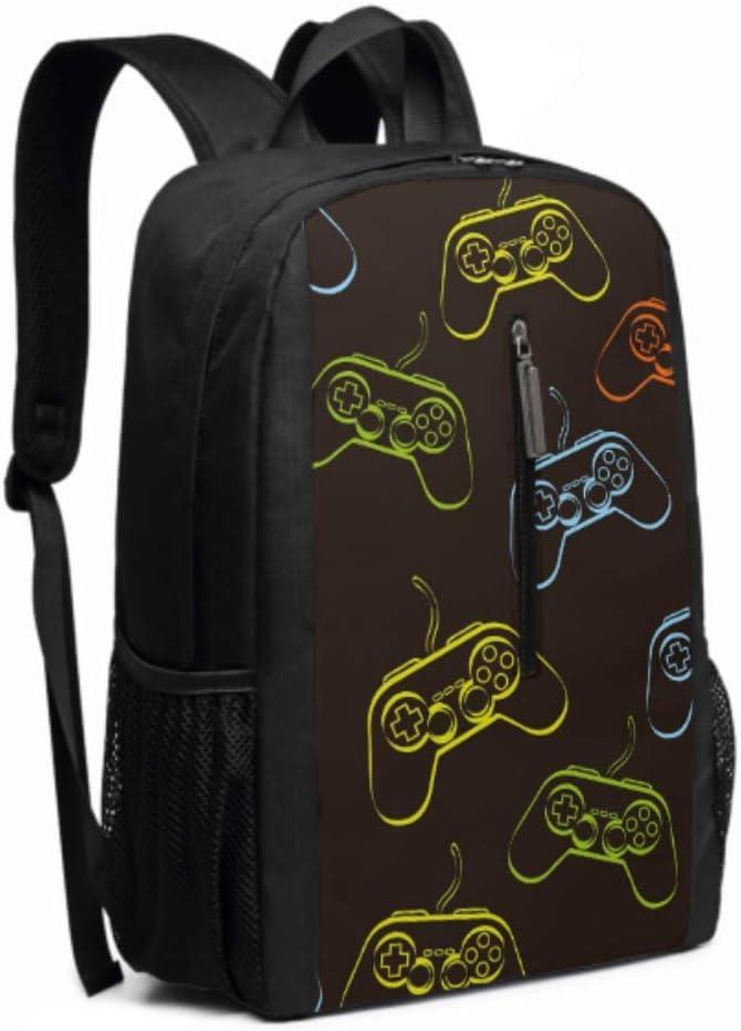 Game Pad Over Black School Travel Outdoor Backpack Ideal Versatile Shoulder Bag Backpack for Men Women,Plenty of Storage Bag,Computer Bag