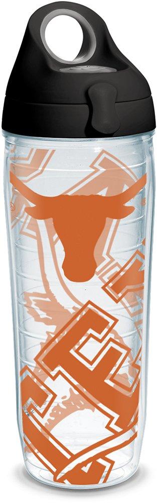 Tervis 1289644 NCAAテキサスLonghorns水ボトル蓋、24オンス、クリア B07B91S9J2
