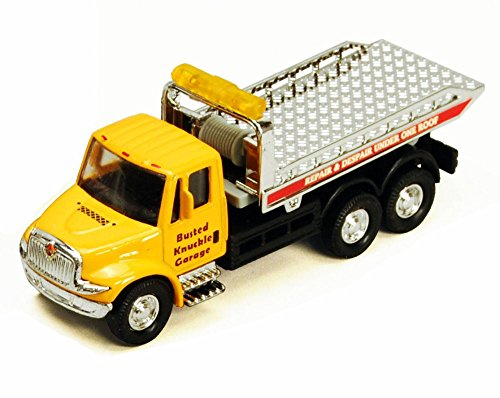 - Showcasts International Busted Knuckle Garage Rollback Tow Truck, Yellow 2106BKG - 5.25 Inch Scale Diecast Model Replica, but NO BOX