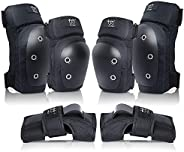 Adult/Youth Knee Pads Wrist Guards with Elbow Pads Protective Gear Set for Skating Roller Inline Skating Derby