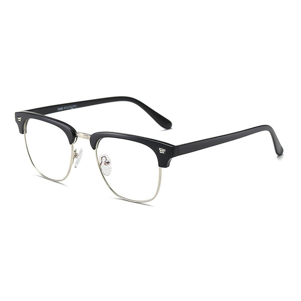 junkai Hombres Mujeres Gafas Cuadrado - Gafas de Lentes ...