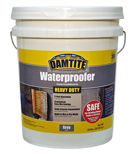 (Damtite 02551 Gray Maximum Coverage Powdered Waterproofer, 50 lb. Pail)