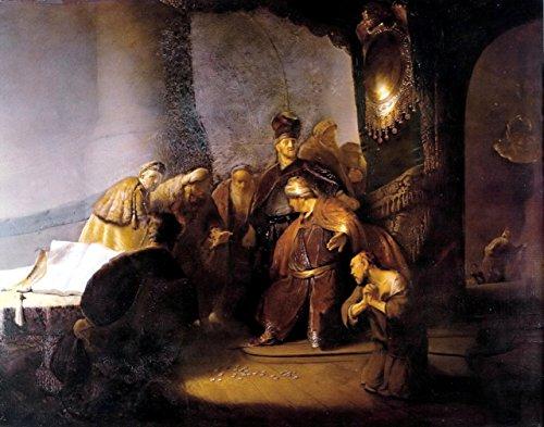 "Judas Repentant, Returning the Pieces of Silver by Rembrandt Van Rijn - 16"" x 20"" Premium Canvas Print"
