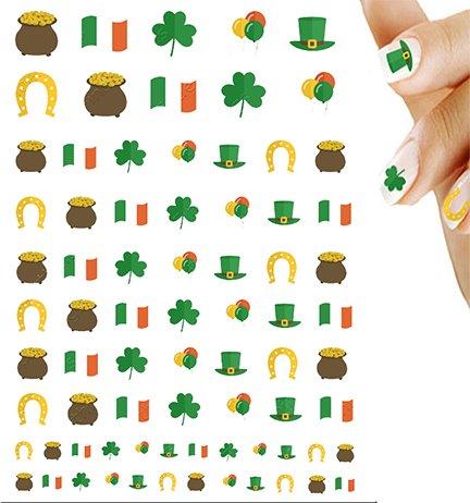 (St. Patrick's Day Shamrock Clover Variety Nail Art Decal)