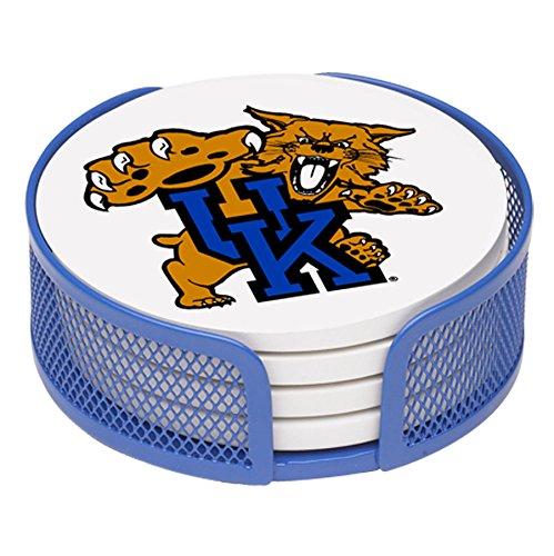 Thirstystone VUKY-HA27 Stoneware Drink Coaster Set with Holder, University of Kentucky
