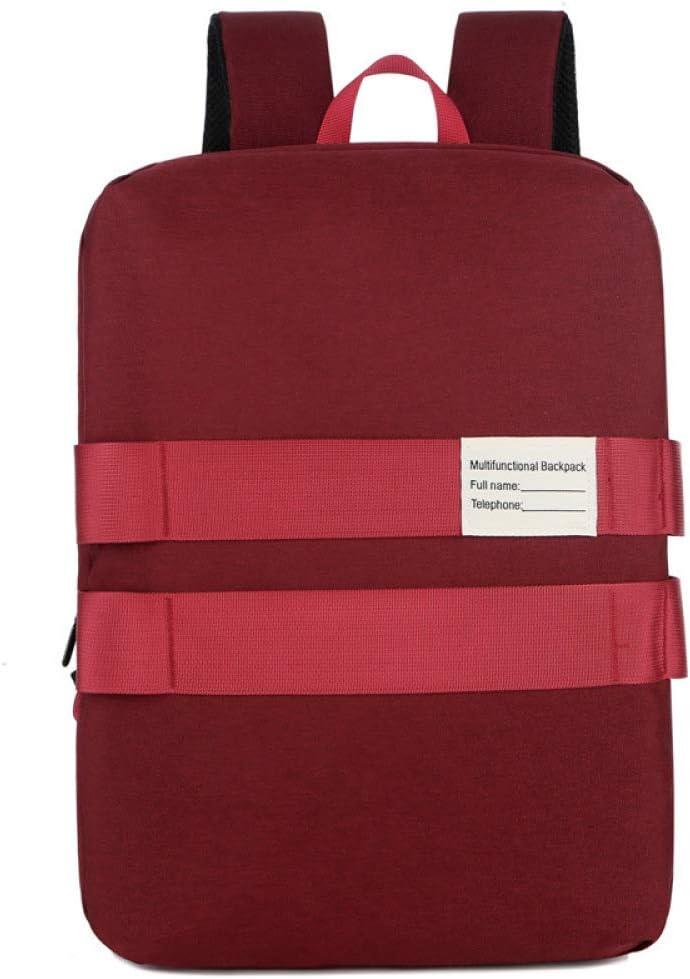 YHSW Mochila Casual Impermeable para Mochila Escolar Bolso para portátil para Hombre Mochila para Hombre Rojo 22.31 Pulgadas