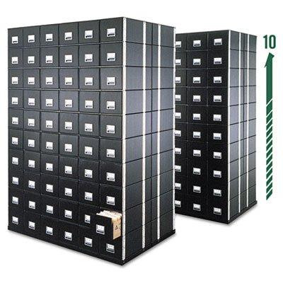 StaxOnSteel Storage Box Drawer, Legal, Steel Frame, Black, 6/Carton, Sold as 6 Each