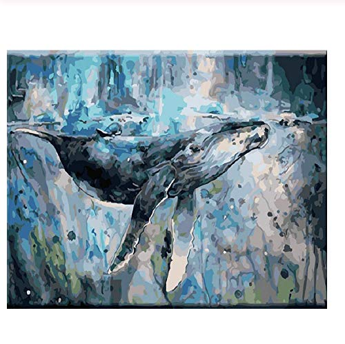 Classic Jigsaw Puzzle 1000 Pieces Adult Puzzle Wooden Puzzle Whales in The Sea Animal DIY Modern Wall Art Unique Gift Home Decor 75X50Cm