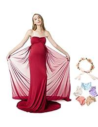 Sannyway Photoshoot Maternity Dress Sleeveless Off Shoulder Photography Maxi Gown