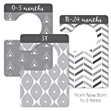 Modern Black & White Unisex Nursery Closet Dividers, Closet Organizer, Nursery Decor & Baby Gift