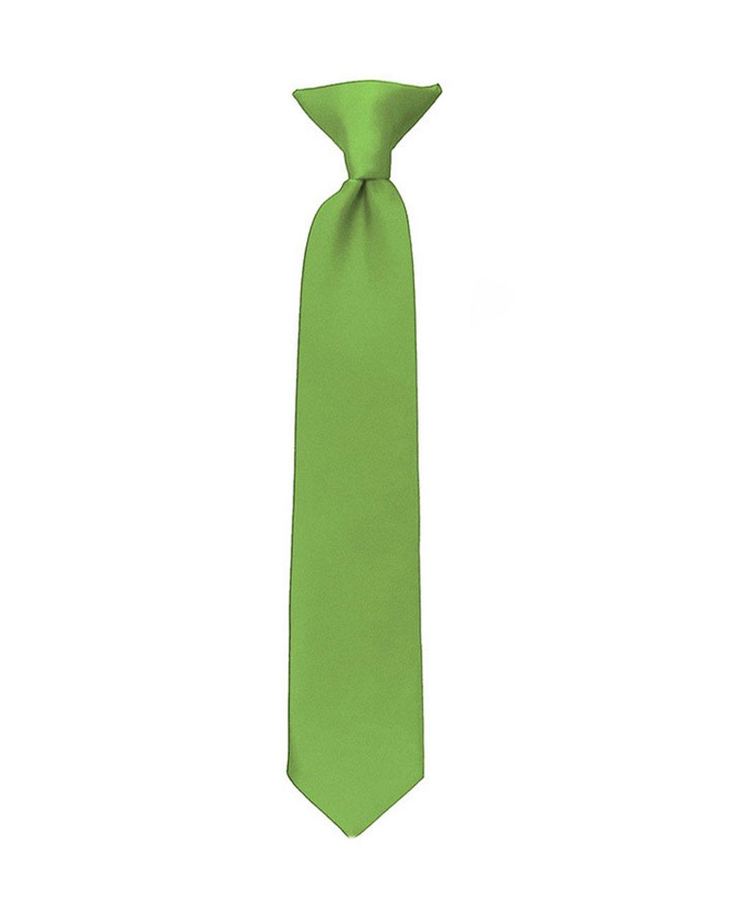 NYfashion101 Boys Solid Clip on Tie Royal Blue