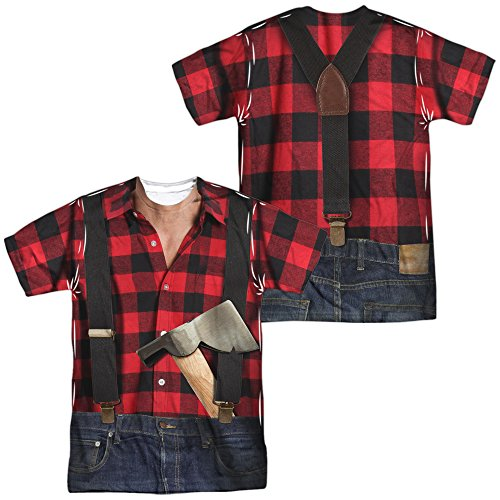 Lumberjack Costume Unisex Adult Sublimated T Shirt for Men and Women]()