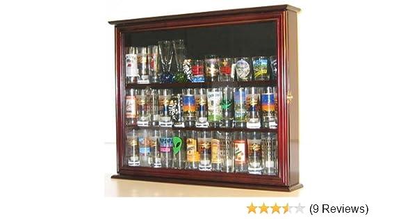Amazoncom Wall Mounted Curio Cabinetsports Shot Glass Display