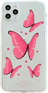 Case for iPhone 11 Pro Max,Clear Butterfly Design ,Soft & Flexible Shockproof TPU Bumper Protective Case for Apple iPhone 11 Pro Max 6.5 Inch