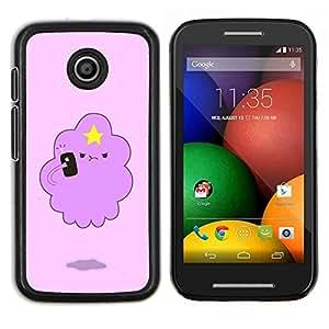 EJOOY---Cubierta de la caja de protección para la piel dura ** Motorola Moto E ** --rosa nube estelar divertida criatura linda