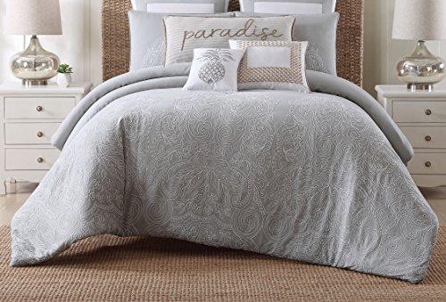 broidered Cotton Comforter Set, King, Tropical Plantation ()