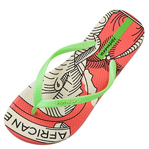 15865a6c Hotmarzz Chanclas para Mujer Elefante Sandalias Playa Verano Casa Ducha  Piscina Flip Flops Naranja