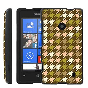 [ManiaGear] Design Graphic Image Shell Cover Hard Case (Houndstooth Pop) for Nokia Lumia 520