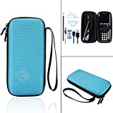 Hard EVA Travel Carry Pouch Sleeve Portable Protective Box Cover Bag Case For Texas Instruments TI-84 Plus CE Graphics Calculator, 83, 85, 89, 82, Plus / C (Blue)