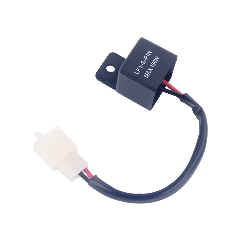 Yosoo 2 Pin 12V Auto motorcycle LED Turn Indicator Light Flasher Relay Turn Signal Rate Control Blink Relais 4333251092