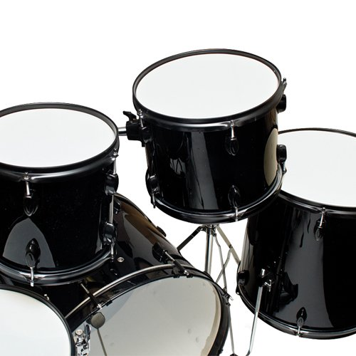 best choice products drum sets 1263 5 piece complete adult drum set with cymbals full size. Black Bedroom Furniture Sets. Home Design Ideas