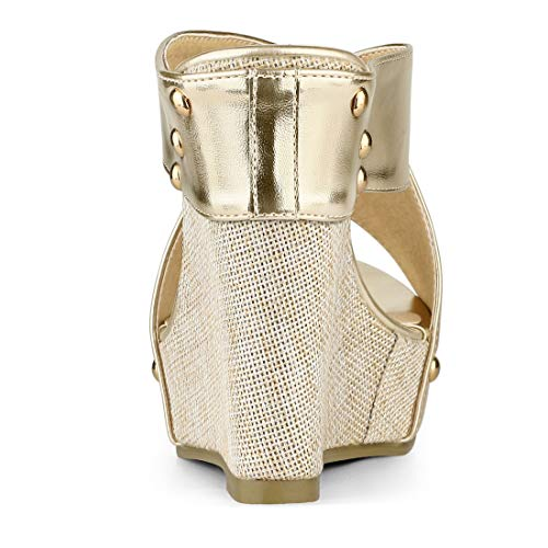 Sandals Platform Gold Tone Women K Allegra Wedge Slide wXaqAEzS