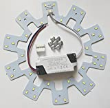 Ledy 18w 5730 SMD Led Panel Ceiling Light Fixtures Circle Annular Round Replacement Board Bulb (White 6000-6500k)