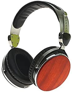 Symphonized Wraith 2.0 Premium Genuine Wood Headphones with Mic - Cherry