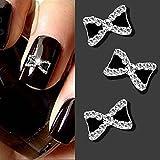 10pcs 3D Alloy Nail Art Decoration Bow Knot Glitter Rhinestones Manicure Jewelry